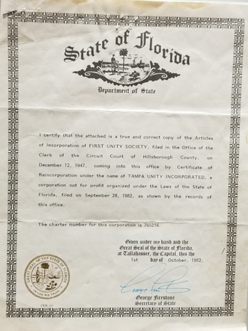Tampa Unity Incorporation