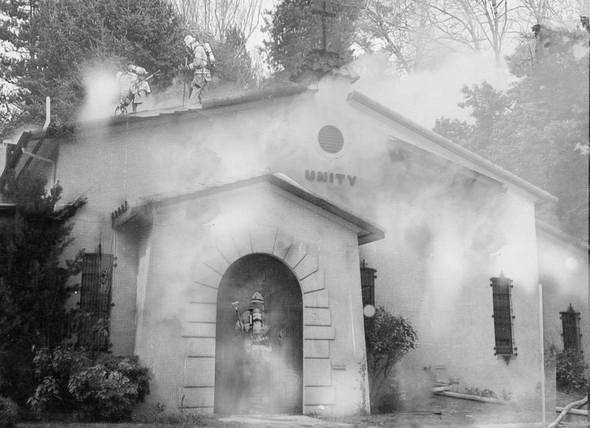 Fire at the Unity Temple